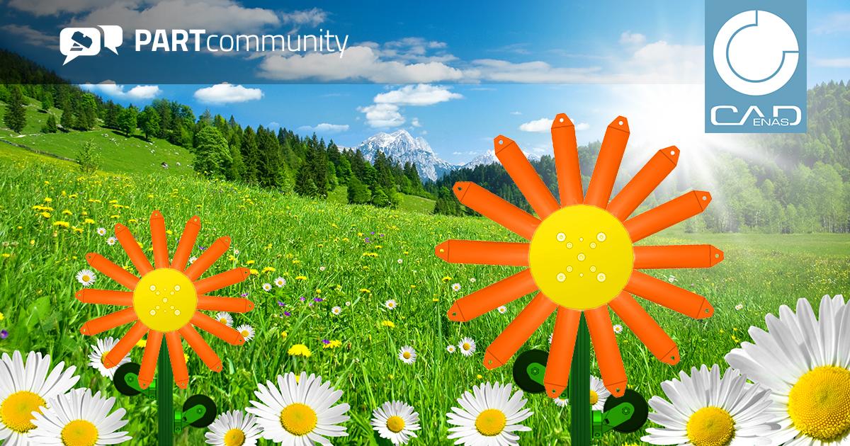 春は成長の季節 - PARTcommunityの3D CADダウンロードは月間2,590万件を超える記録を達成